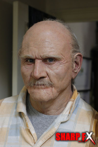Old Man Crawf Prosthetic Makeup