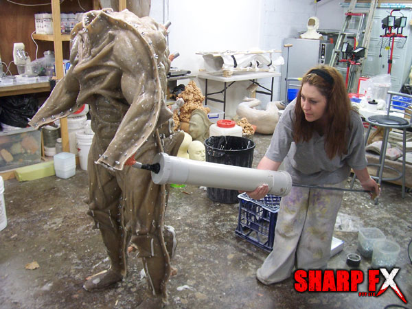 Special effects Makeup Creature Mould Foam Injection