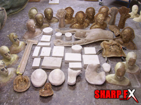 Moulds from stage 1 of filming The Dark Lurking