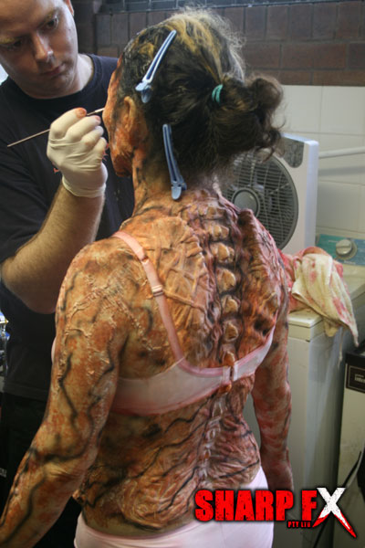 Demonic special makeup effects transformations the Dark Lurking