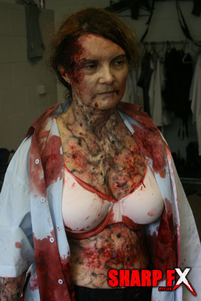 Infected special makeup effects stage 1