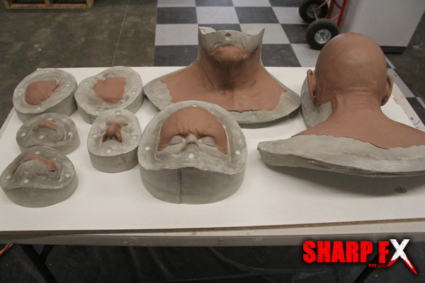 Old Man Crawf prosthetic Moulds